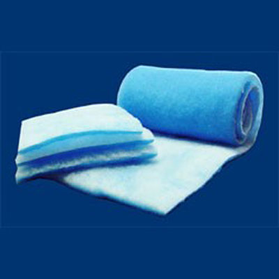 Tri-Dek fiberglass media air filters polyester pads rolls sleeves custom width antimicrobial tackifier