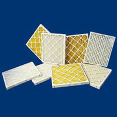 Tri-Pleat pleated air filters electrostatic option extended surface MERV thickness options synthetic media rugged